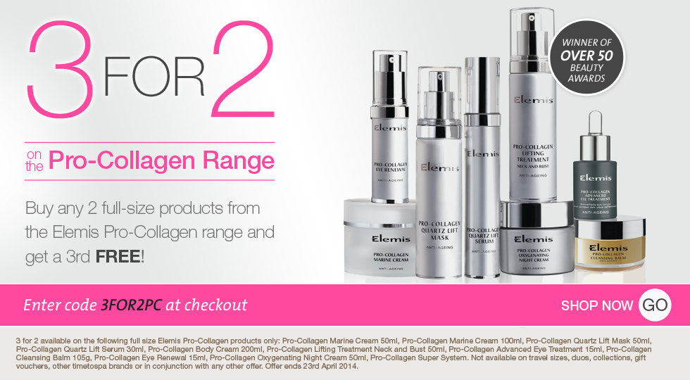 3 For 2 on the Elemis Pro-Collagen range