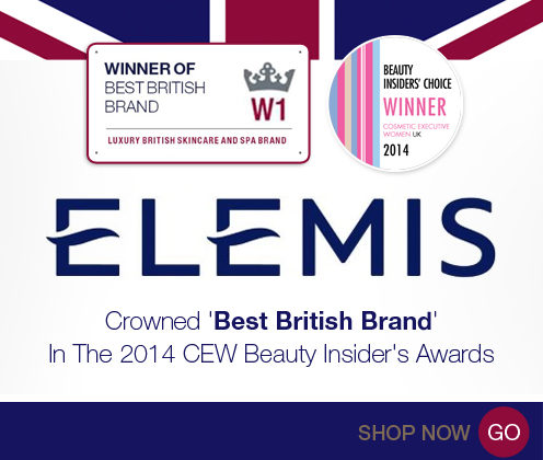 Elemis Best british Brand CEW 2014 Awards