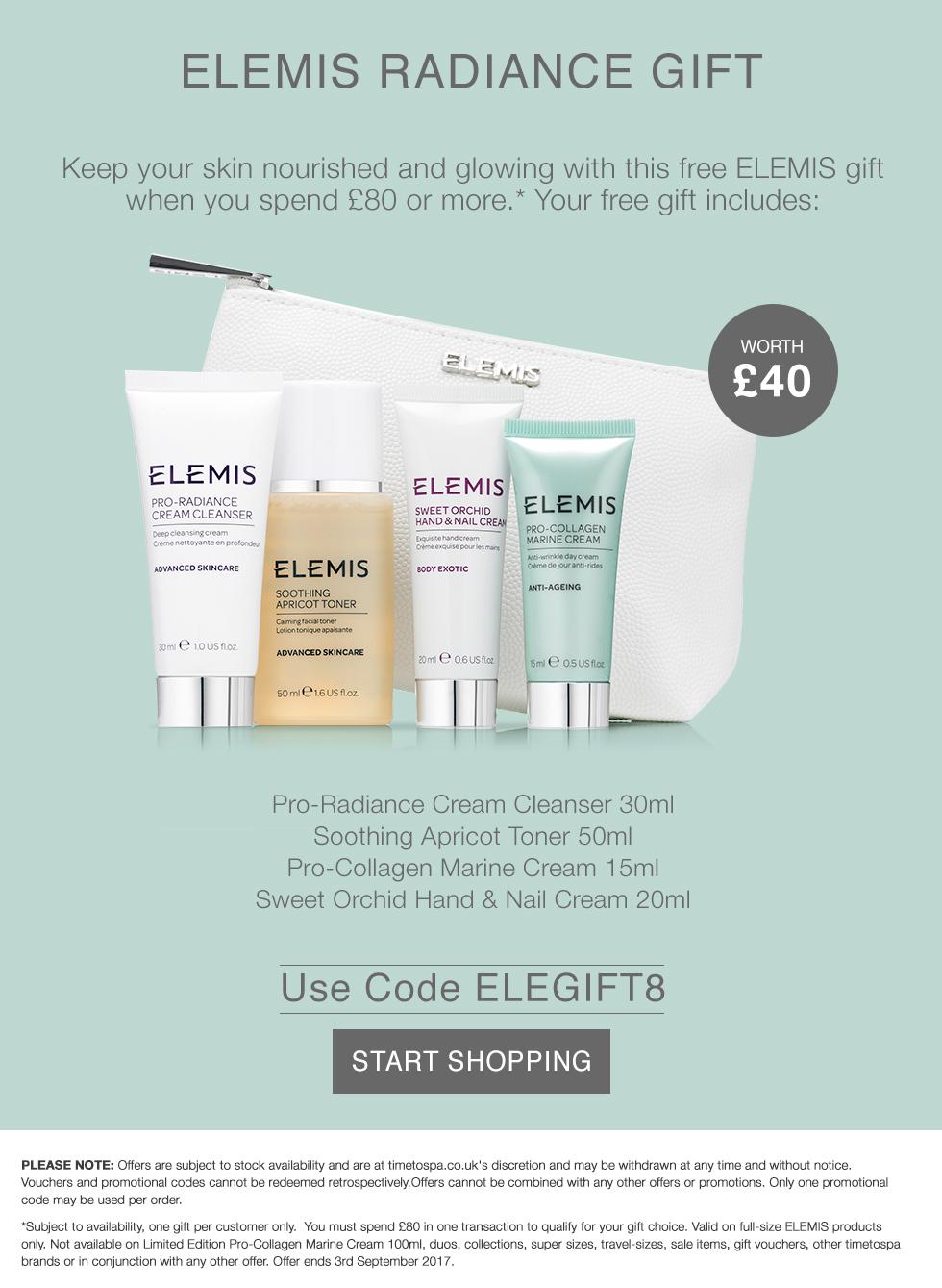 Free ELEMIS Radiance Gift - Worth £30