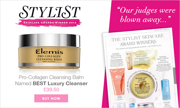 Elemis Pro-Collagen Cleansing Balm Named Best Luxury Cleanser By Stylist Magazine