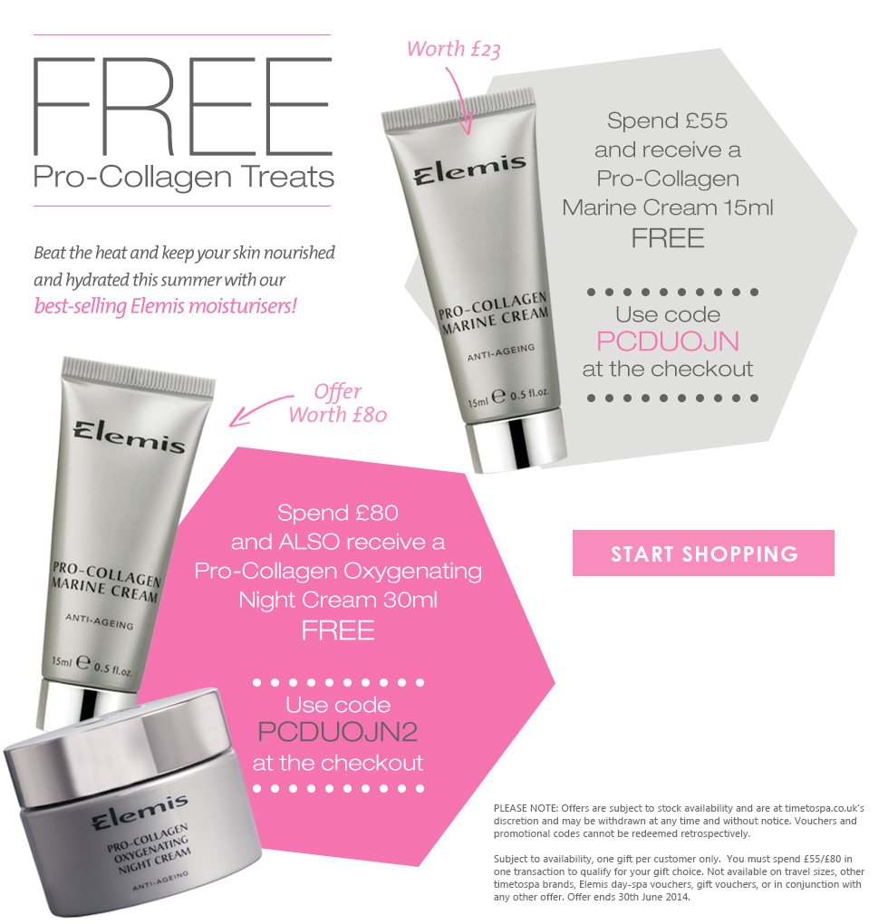 Free E;lemis Pro-Collagen Step Up Gift worth up to £80