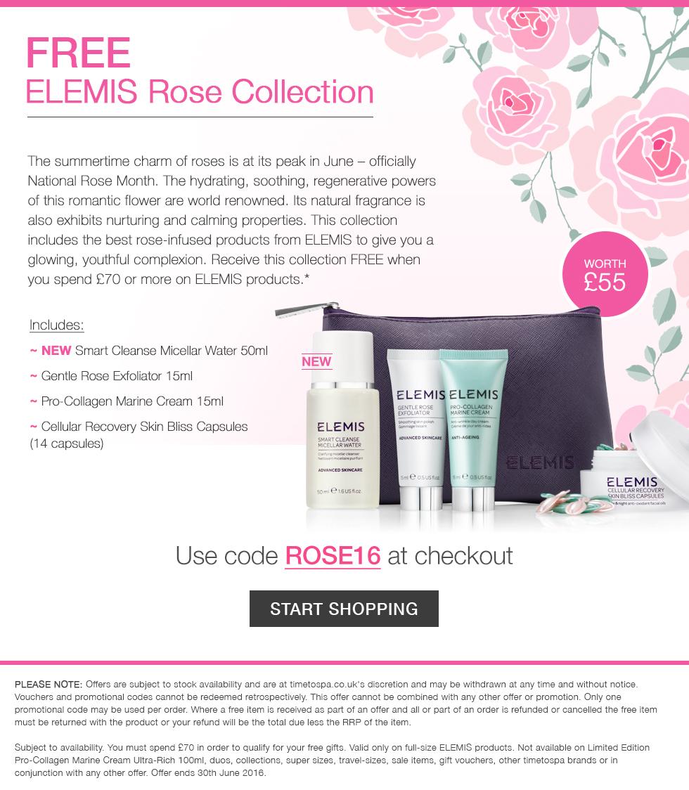 FREE ELEMIS Rose Collection - worth £55