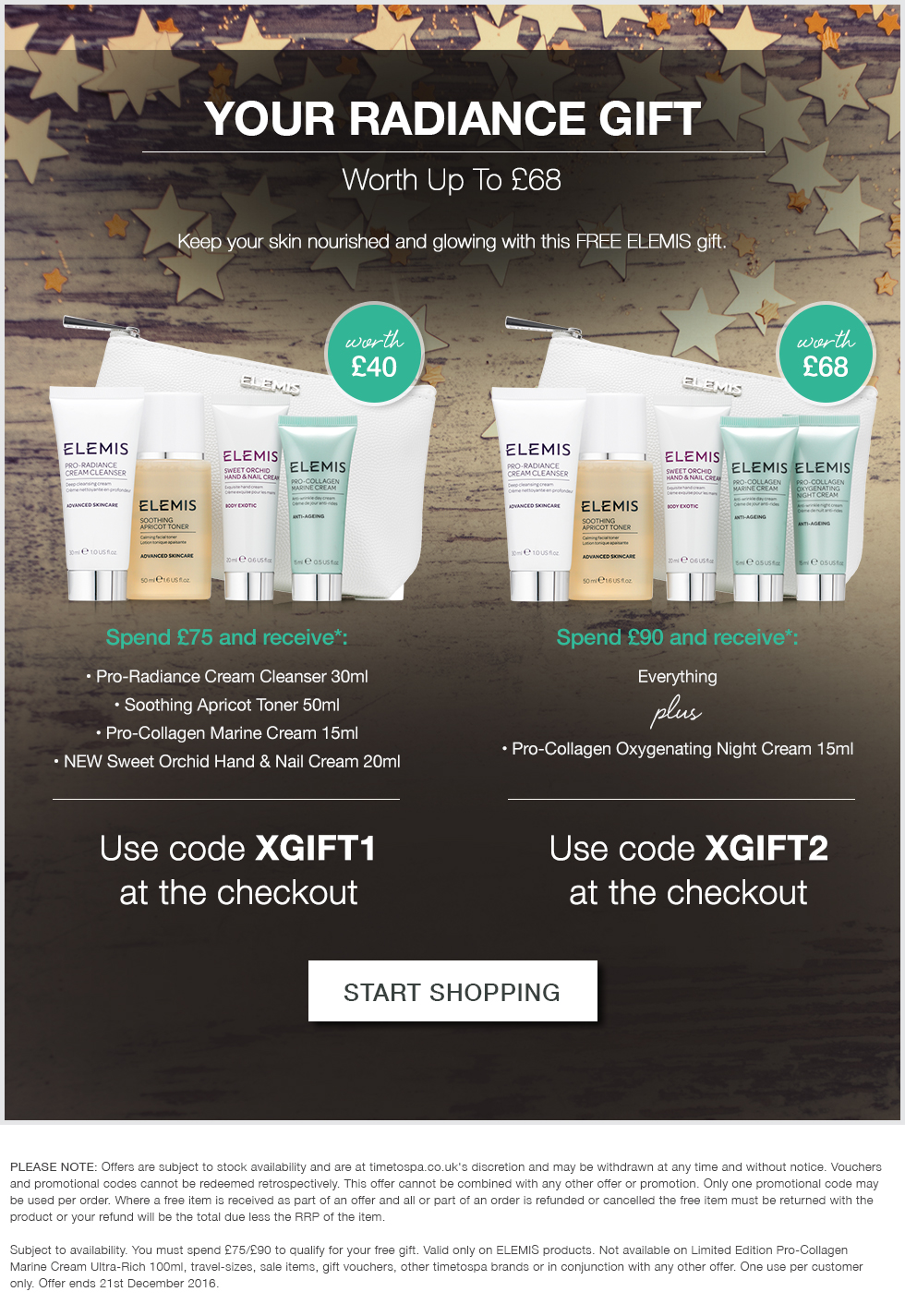 Free Radiance Collection - Worth Up To £68
