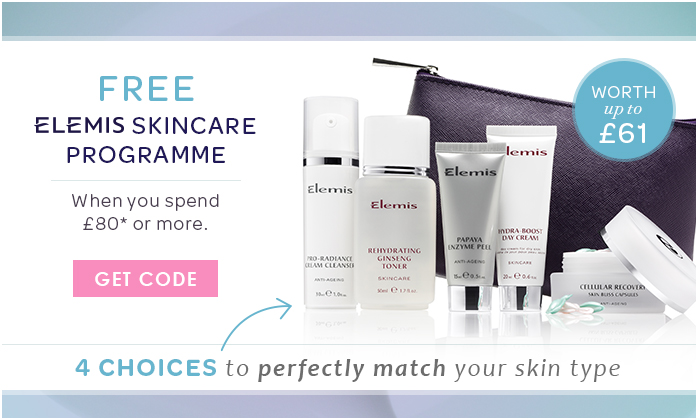 Free ELEMIS Skincare Programme Worth Up To £61