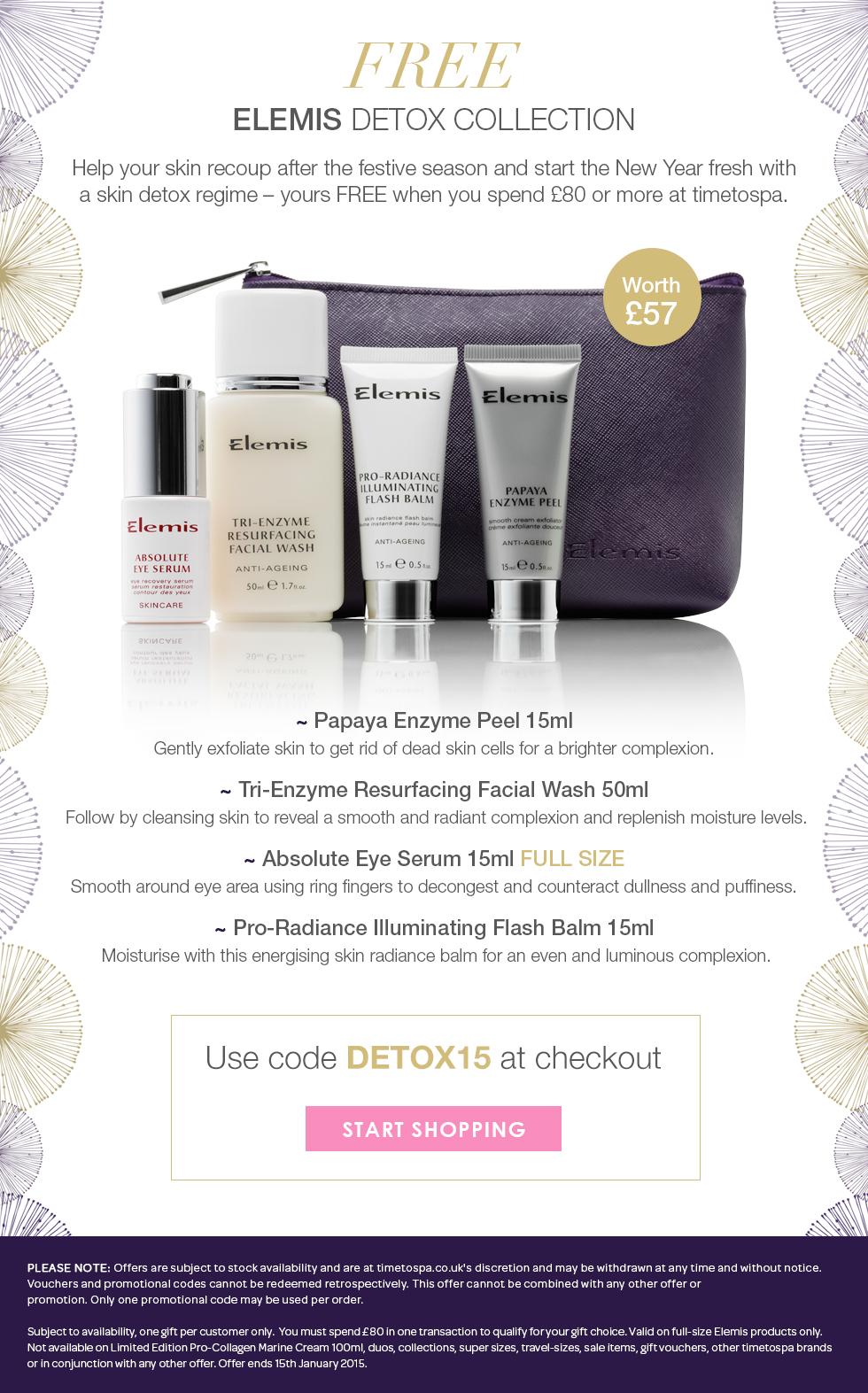 Free ELEMIS Skin Detox Collection - Worth £57