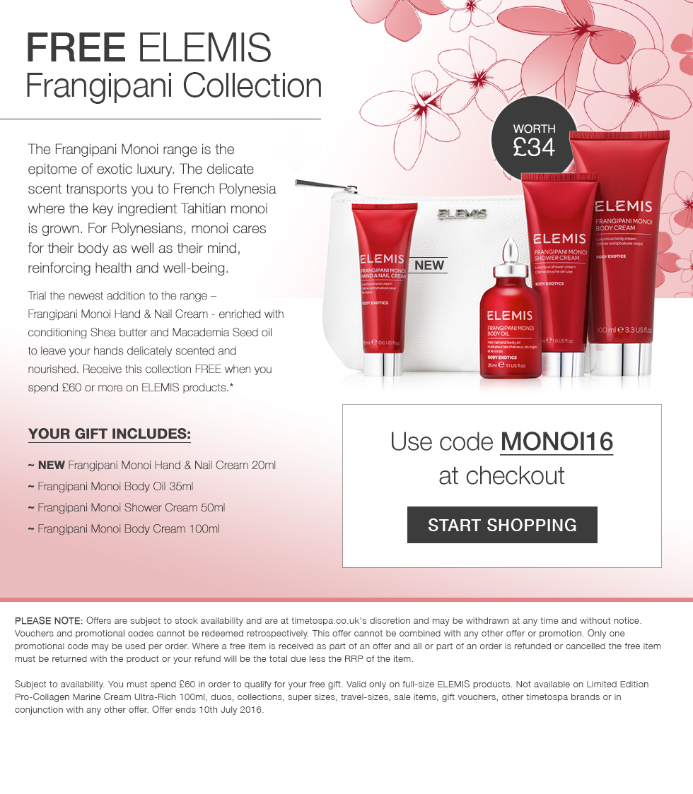 FREE ELEMIS Frangipani Collection - Worth £34