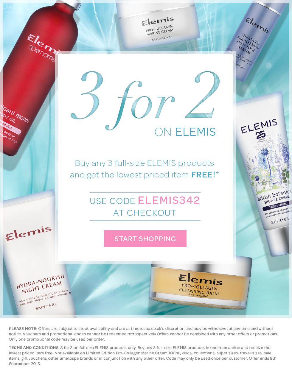 3 for 2 on ELEMIS