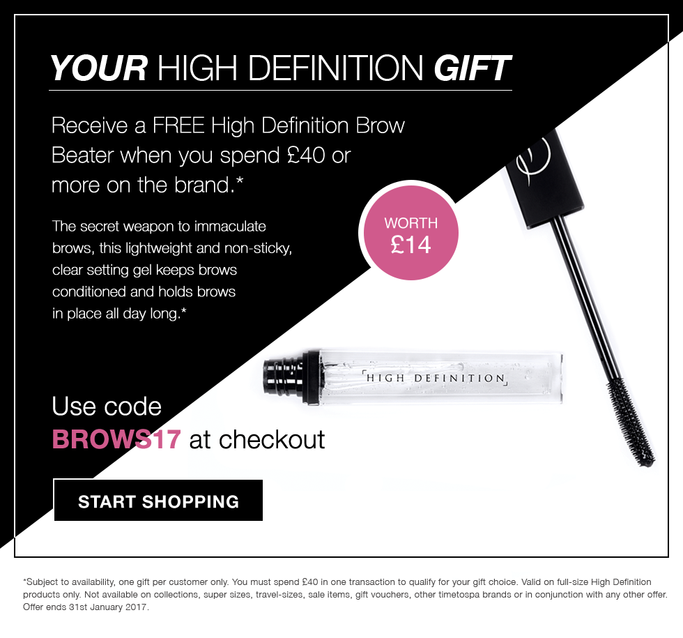 FREE High Definition Brow Beater Gift with orders over £40