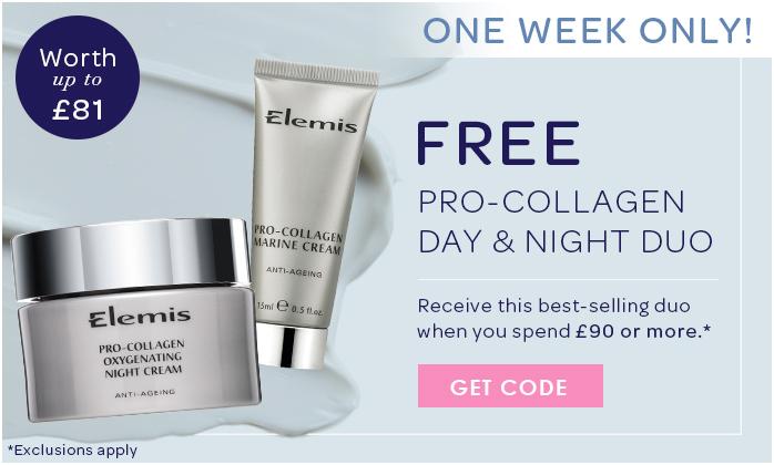 FREE ELEMIS Pro-Collagen Marine Cream 15ml & Pro-Collagen Oxygenating Night Cream 30ml Duo; style=