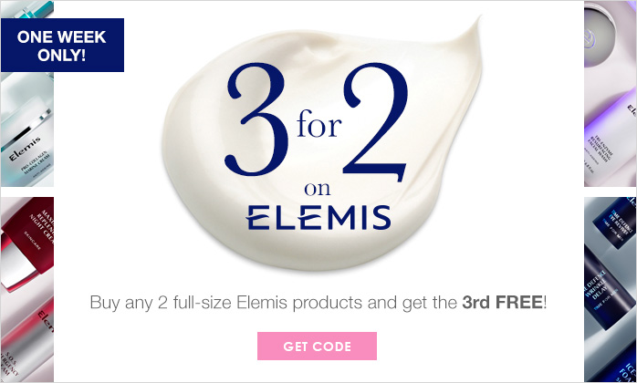 3 For 2 On Elemis - One Week Only!