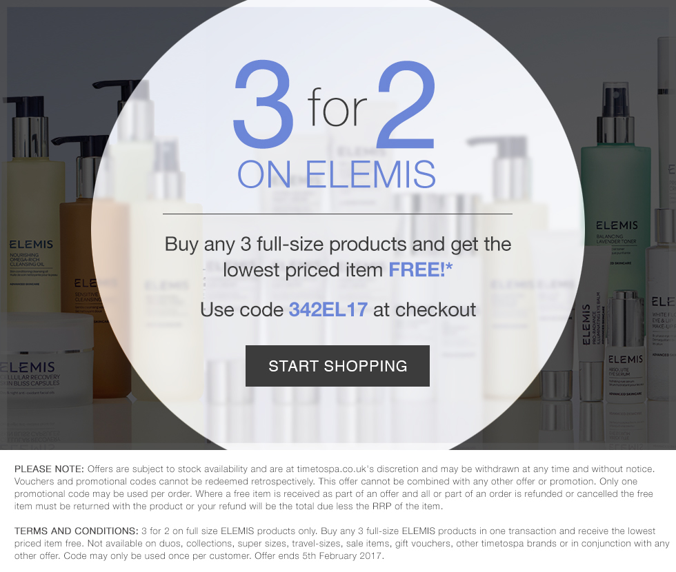 3 for 2 on ELEMIS - Limited Time Only