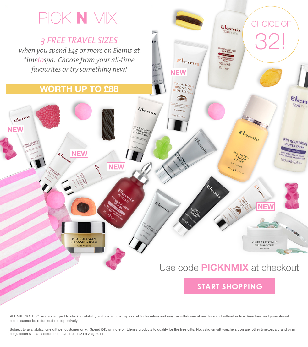 3 FREE Elemis Travel Sized Treats - Worth up To £88