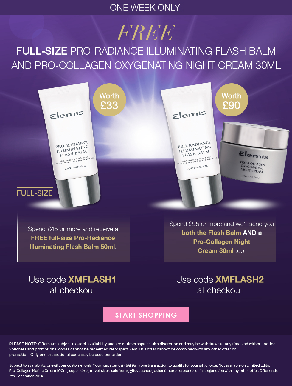 Free Full Size Pro-Radiance Illuminating Flash Balm and Pro-Collagen Oxygenating Night Cream