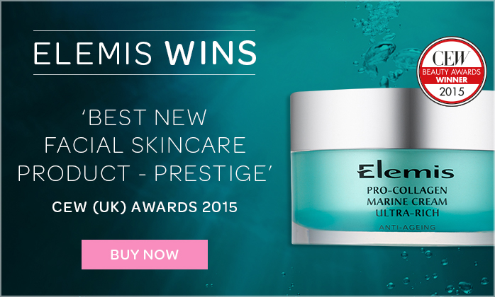 ELEMIS Pro-Collagen Marine Cream Ultra-Rich Wins Best BEST NEW FACIAL SKINCARE PRODUCT  AT THE CEW AWARDS