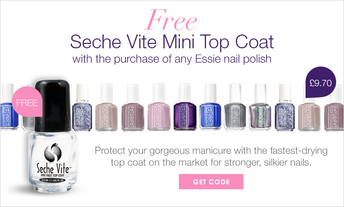 Free Seche Vite Mini Top Coat With Any Essie Nail Polish Purchase