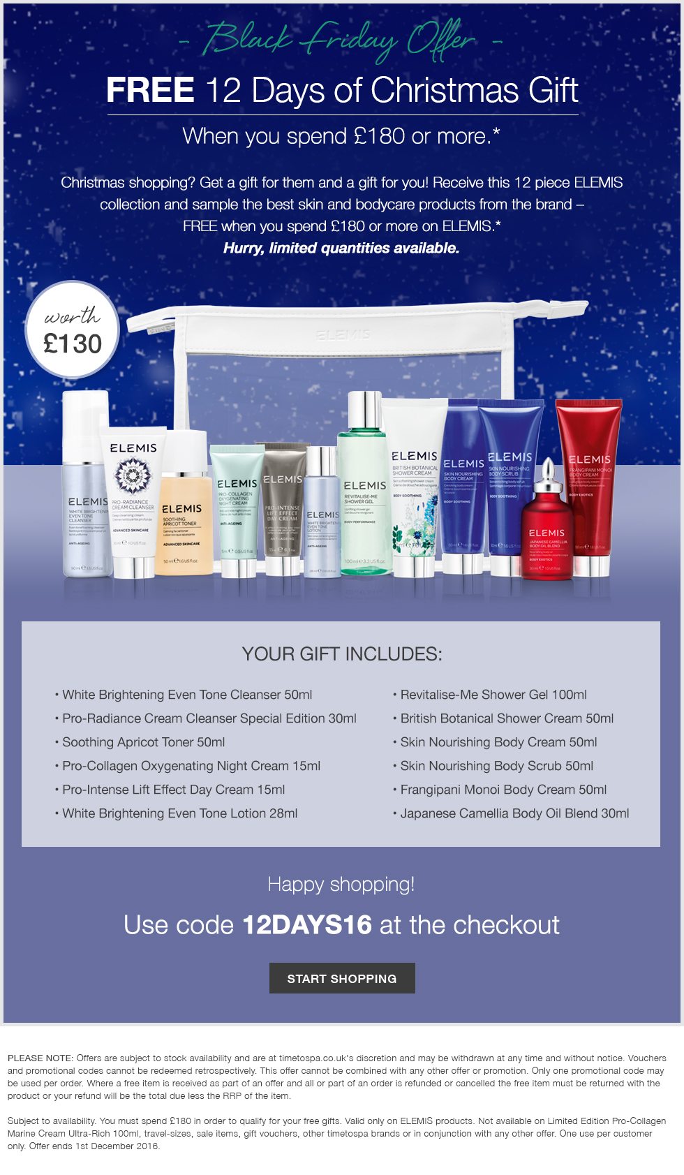 12 Days of Christmas Gift- Worth Up To £130