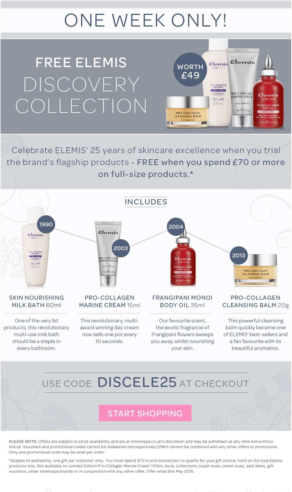 Free ELEMIS Discovery Collection Worth £49