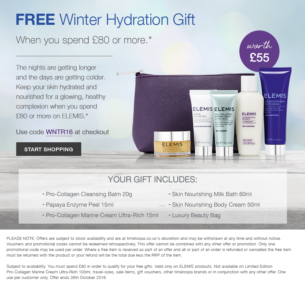 Free Winter Elemis Hydration Collection - Worth Up To £55