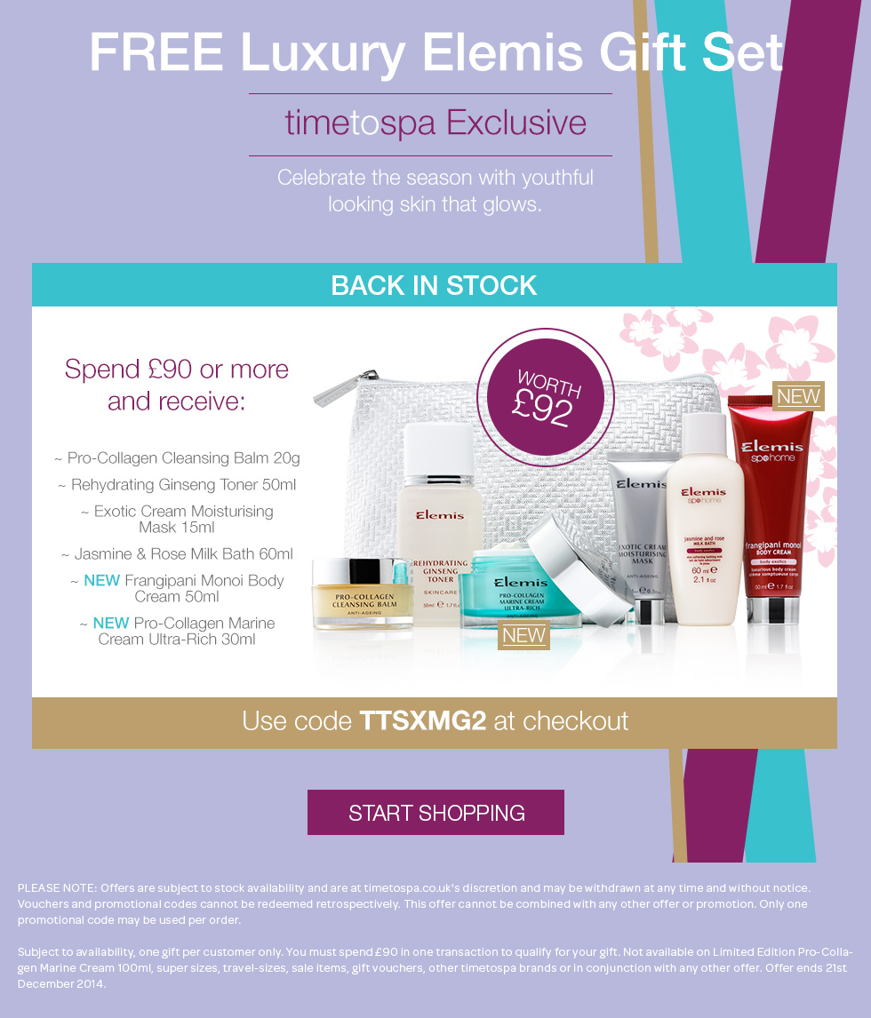 Free Deluxe ELEMIS Gift Set Worth Up To £92