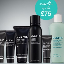 3 FREE ELEMIS Men samples when you spend £70 or more on full-size ELEMIS Men products.