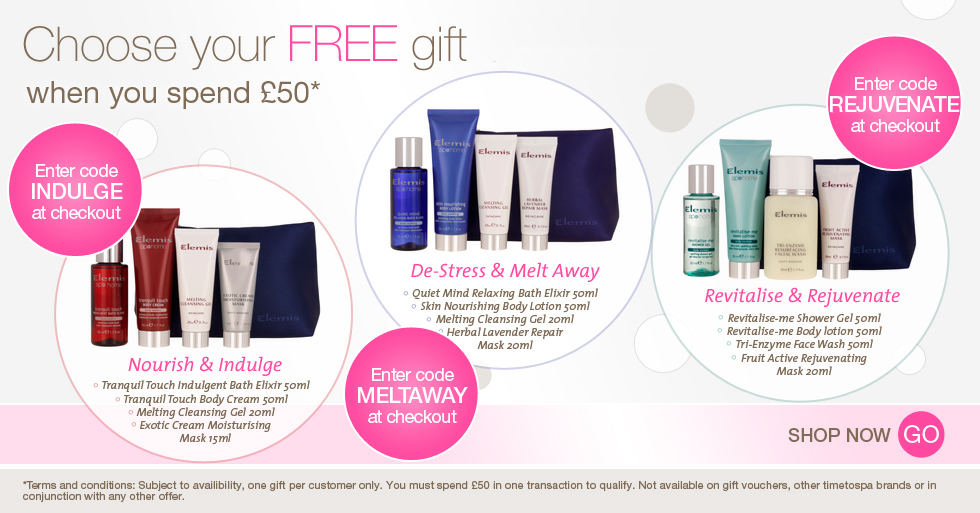 TimeToSpa - Free Gift Over £50