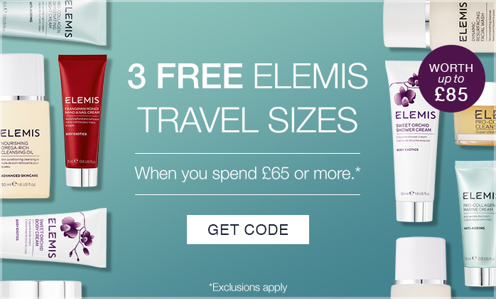 3 FREE ELEMIS TravelSizes - Worth Up To £85